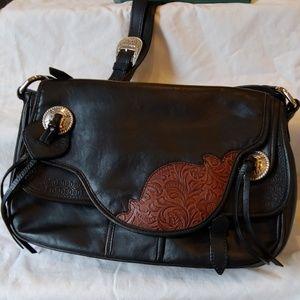 Ariat Saddle Leather Shoulder Bag